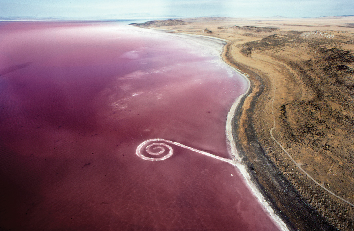 Robert Smithson, Spiral Jetty, 1970. Copyright Holt/Smithson Foundation and Dia Art Foundation/Licensed by VAGA at Artists Rights Society (ARS), NY.