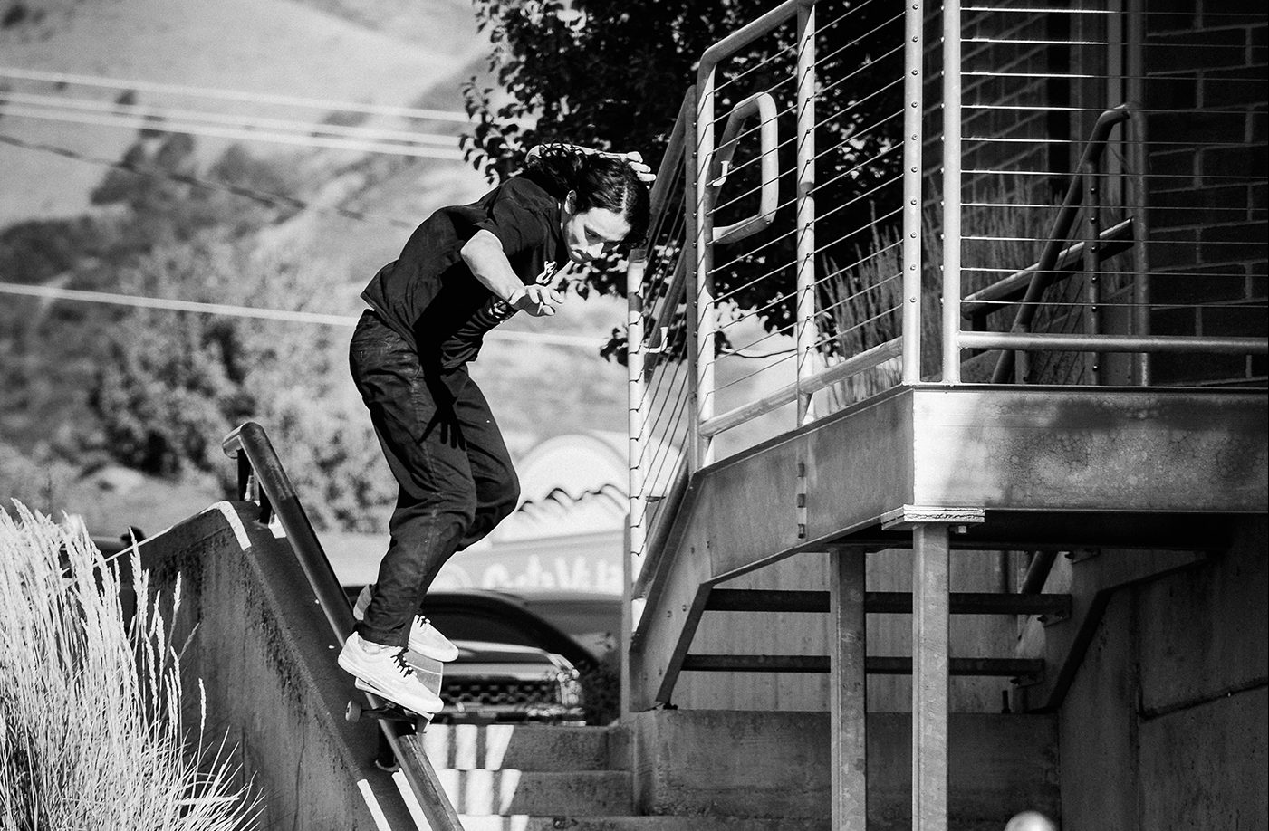 Mikey Martinez – Backside 50-50 – SLC, Utah