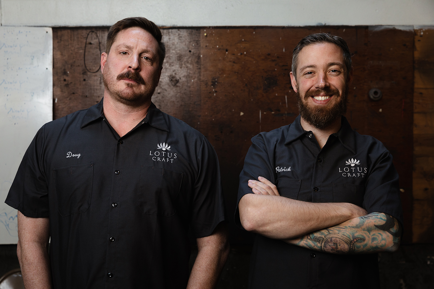 """(L–R) Lotus Craft President of Hospitality Doug Hofeling and Head Brewer Patrick Bourque hope to give """"Utah drinking"""" a new meaning through Fife Brewing Co."""