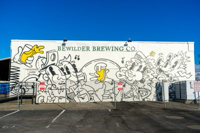 Bewilder Brewing is instantly recognizable by the notorious, colorful mural adorning the side of its building.