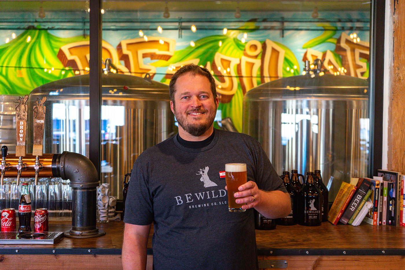 Bewilder Brewing Co-Founder Ross Metzger feels optimistic about the future of his freshly opened brewery.