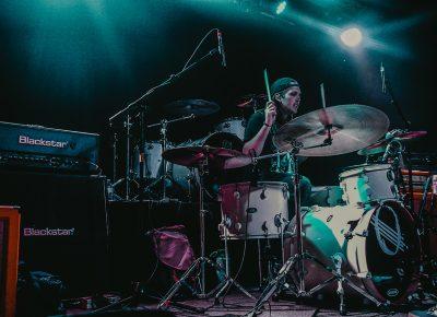 Drummer of Utah locals Oxford Grey.
