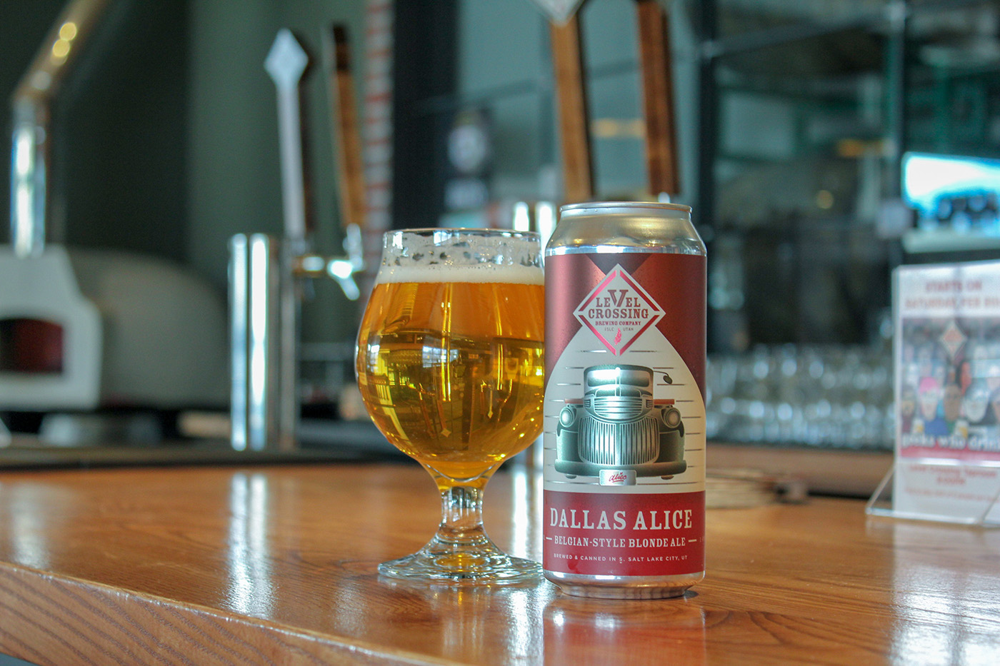 Level Crossing Brewing's Dallas Alice is a Belgian-style blonde ale is a beer with big flavors. At 6.2% ABV, this is the ultimate springtime refresher.