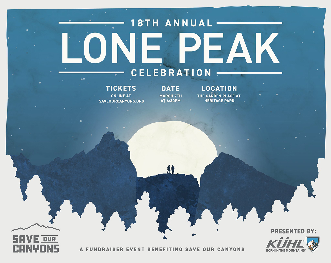 In 1978, wilderness in Utah was realized, and so was the organization's annual fund-raising benefit: the Save Our Canyons Lone Peak Celebration.