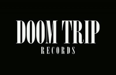 The stark black-and-white Doom Trip logo.