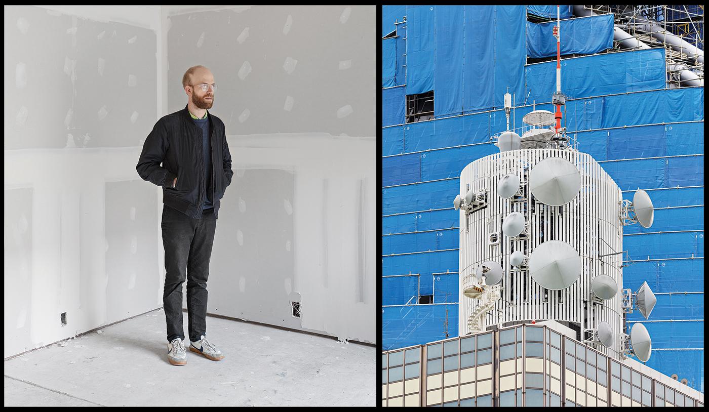 (L–R): Photo: Michéle Brummer Everett; Daniel Everett, Untitled (from Vantage Point), 2019.