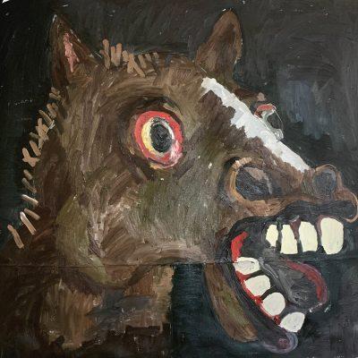 Andrew Alba, Burro, oil on canvas, from Everyone Sucios