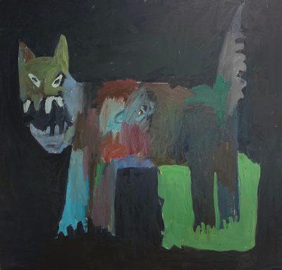 Andrew Alba, Gato, oil on canvas, from Everyone Sucios