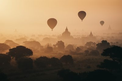 Balloons Over Bagan, 2013, from Kunde's personal collection