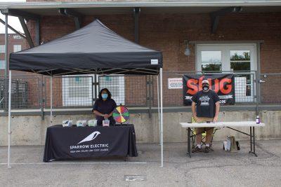 SLUG Cat sponsors were on the scene keeping it real.