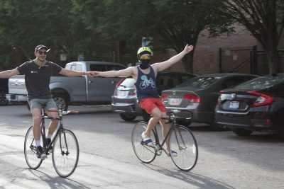 Cycling and camaraderie go hand in hand.