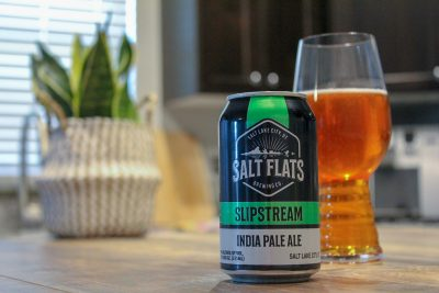 Salt Flats Brewing Co.'s Slipstream India Pale Ale contains classic hints of pine, bready sweetness and the aroma of an inner peel from a ripened orange.