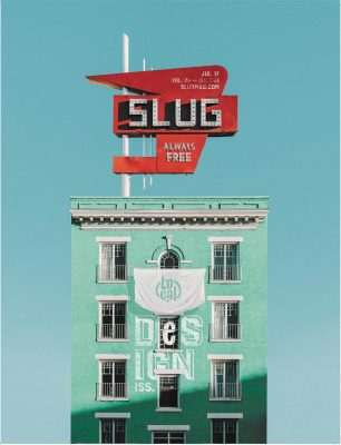 Brent Courtney's cover for SLUG's 2017 Local Design issue.