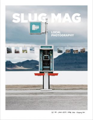Brent Courtney's cover for SLUG's 2019 Local Photography issue.