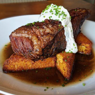 Provo's Communal offers a variety of dishes including their Braised Beef Short Rib meal.