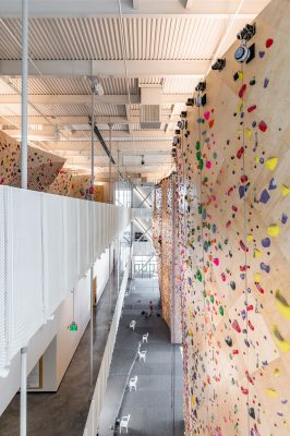 Towering walls make for excellent climbing.