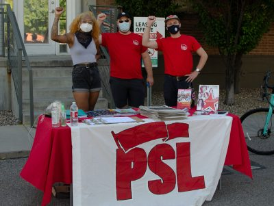 Deja, Alex, And Weston with PSL standing up for what's right.