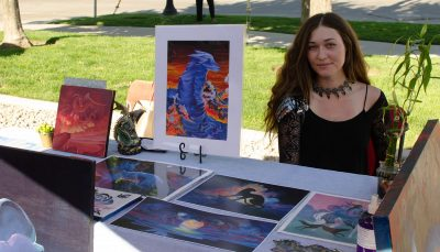 Halley Bruno from Cinder Ash was one of the local artists who graced SLUG Picnic with their stunning work.