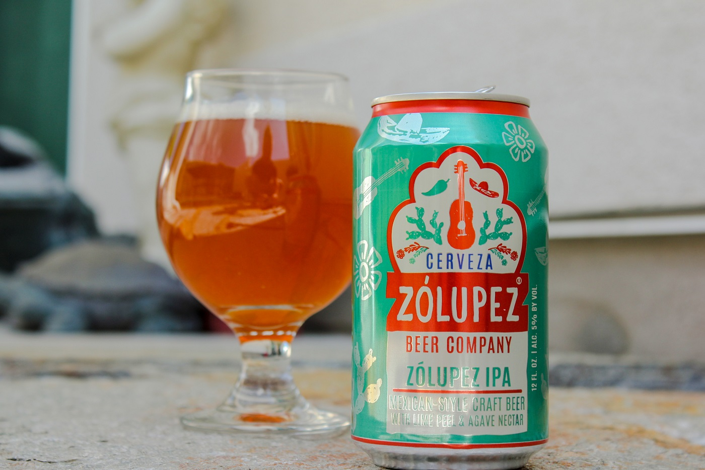With bits of real lime peel added in, Cerveza Zólupez Beer Company's Zólupez IPA is much different than your traditional IPA.