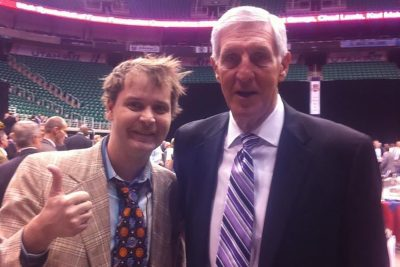 (L–R) Mike Brown and Coach Jerry Sloan. Rest easy, Coach.