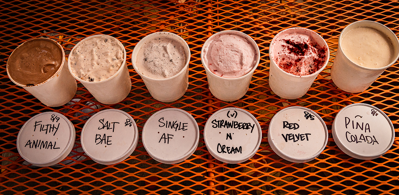 Alia Marrero's vibrant personality shines through both her unique ice cream flavors and cheeky product names.