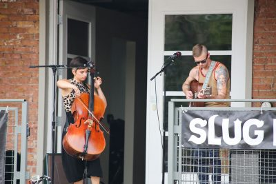 Fur Foxen were the first to take the stage at the August SLUG Picnic. Photo: Erin Sleater