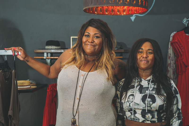 """This month's """"SLUG Style"""" features sisters Angelique and Jasmine Gordon of A 'La Mode SLC, a boutique and personal-styling service."""