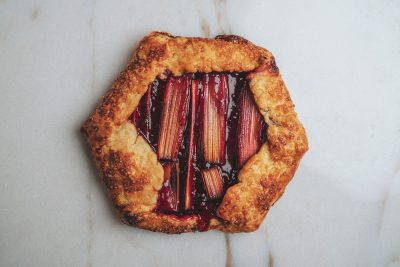 "The 'Rhuberry Mary"" galette, featuring ingredients found at Liberty Heights Fresh Market"