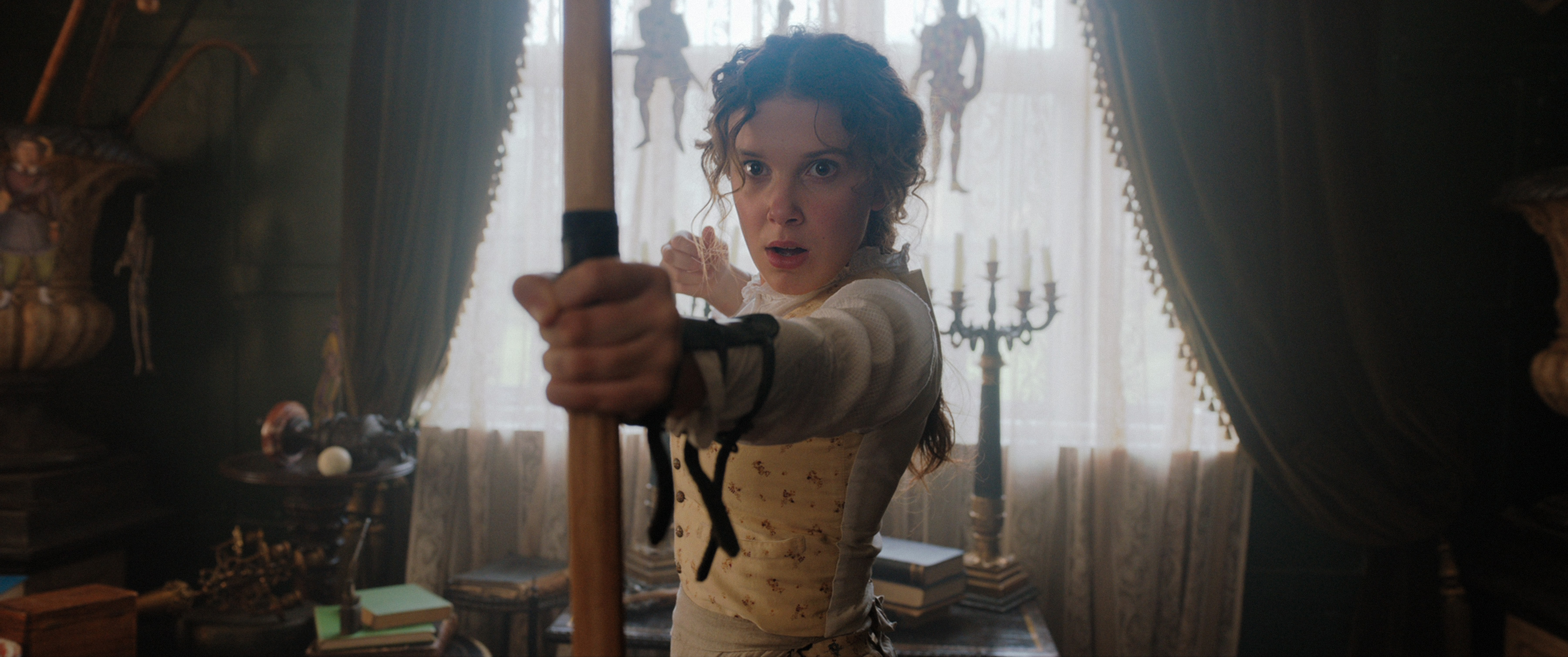 Enola Holmes has a breezy, adventurous and family-friendly feel with a knockout cast of Millie Bobby Brown and Henry Cavill to support it.