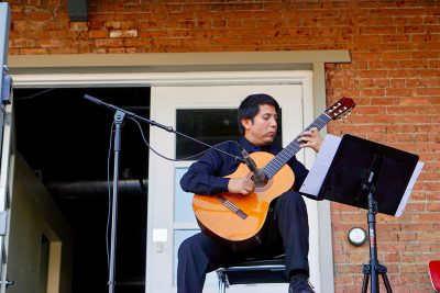 Maestro Gabino Flores Classical Guitarist performs at the September SLUG Picnic