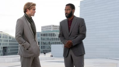 Christopher Nolan's long-awaited Tenet is a smart popcorn film that doesn't rank among his best work, weighed down by characteristic sound-mixing issues.