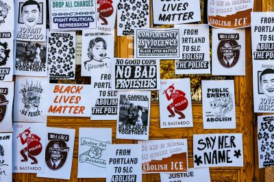 Employing both historic revolutionary imagery and iconography from Utah-specific issues, Local propagandists aim to educate and spark conversation through their prints.