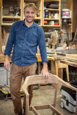 "Carper says, ""A lot goes into designing the joinery in chairs, and it needs to be functional and comfortable."""