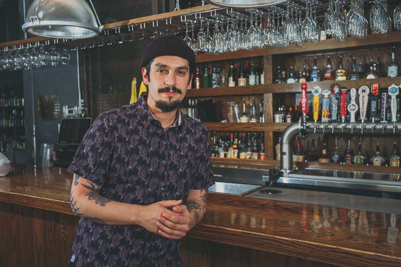 "This month's beer and spirits–themed ""SLUG Style"" features David Quiñones, a bartender at Purgatory, a bar and restaurant in SLC."