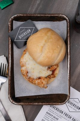 The Parma Pollo is one of Diversion Eatery's signature dishes.
