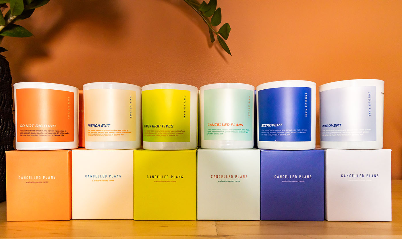 In addition to clothing, The Stockist carries a variety of other artisan goods, among them candles.