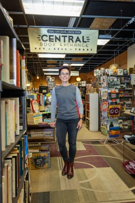 Central Book Exchange Owner Pam Pendersen keeps the store's shelves stocked with used treasures waiting for a new home.