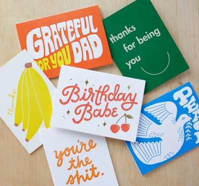 A sampling of the vibrant products printed through Half Pint Studio.