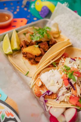 Real Tacqueria's signature tacos come at $2.99 a pop and can be a adjusted with a variety of proteins.