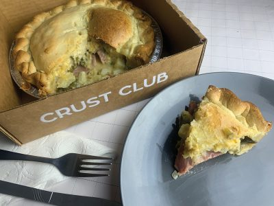Crust Club's Funeral Potato Pot Pie makes for a prime comfort meal built with plenty of starches and proteins to enjoy.