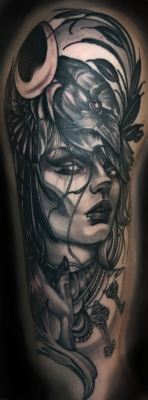 Al Perez' history of tattooing for over a decade offers his clients a broad range of styles.