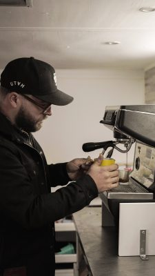 Starting a business in the time of COVID-19 has been difficult, but collaboration with other local eateries has allowed Old Cuss Coffee to thrive.
