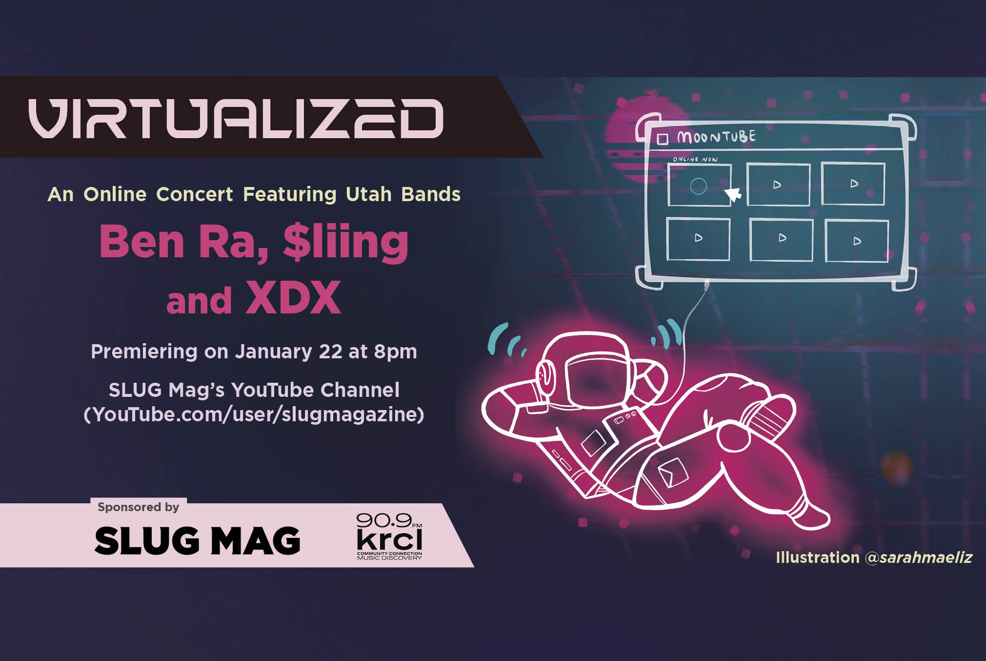 SLUG Mag is stoked to continue their Virtualized concert series with local hip-hop artists Ben Ra, $liing and XDX!