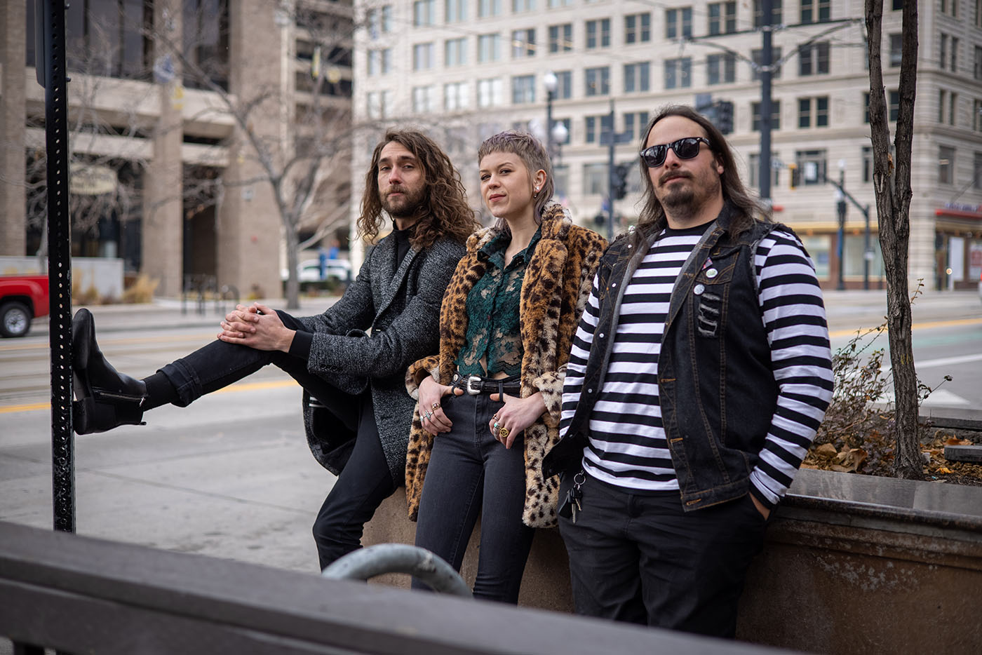 (L–R) Dylan Almond, River Rose Haggerty and Bridger Ray Croxford's improvised jam sessions are the basis of how The Fervors write music.