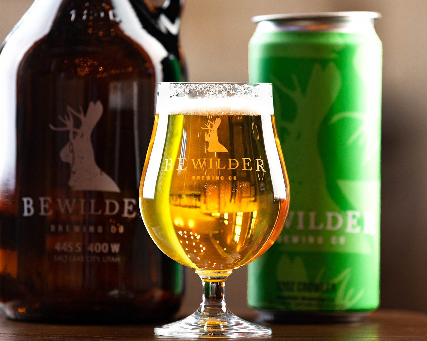 Bewilder's Oat Pale Lager has pleasant aromas of florals and grain.