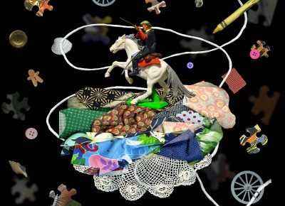 Cowfolk 1, 2019, 30x30, digital collage.