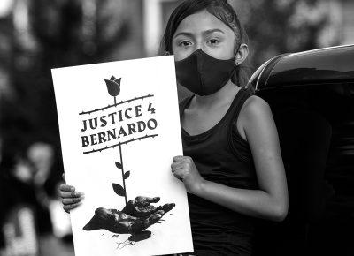 Bernardo's nice, Adriana Palacios join protesters during a Justice for Bernardo protest on Wednesday, June 24, 2020.