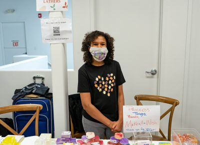 Elizbeth selling Soaps to donate to People Battling Cancer (1 of 2)