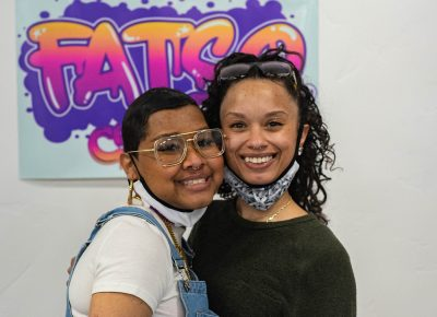 Alia and Kayla from Fatso Crema posing for the camera.
