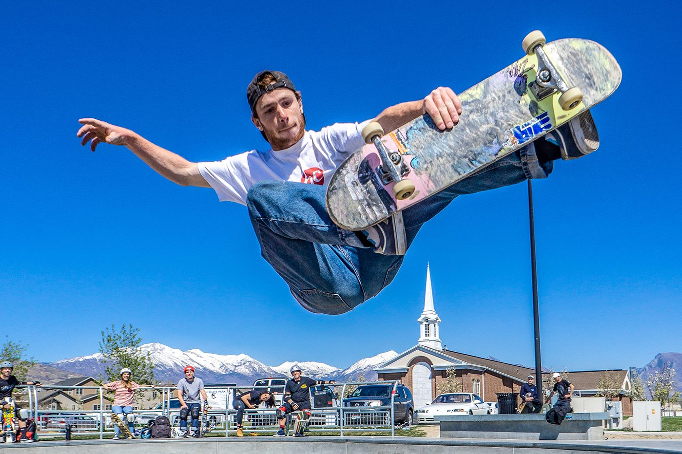 Kaleb Hadlock – Frontside Air – SLC, Utah. Photo: @randyjphoto